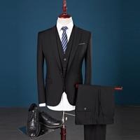 2019 New Mens Suits Brand Men Tuxedo Party Mens Dress Suit 3 Pieces Wedding Slim Fit blazer Set Designs Plus Size S 4XL 5XL 903
