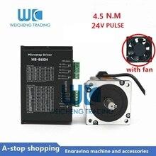 где купить 2-phase NEMA34 Stepper Motor Drive Kit DSP AC18-80V DC24-100V HB-860H Driver + 86BYGH250A 4.5Nm 5A 1.8 Degree Motor по лучшей цене