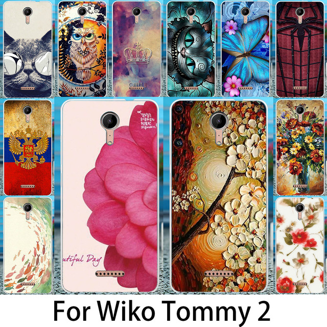 Akabeila Phone Case For Wiko Tommy 2  Tommy2 Covers Silicon Soft TPU Shell Coque Fundas Hosuing Back