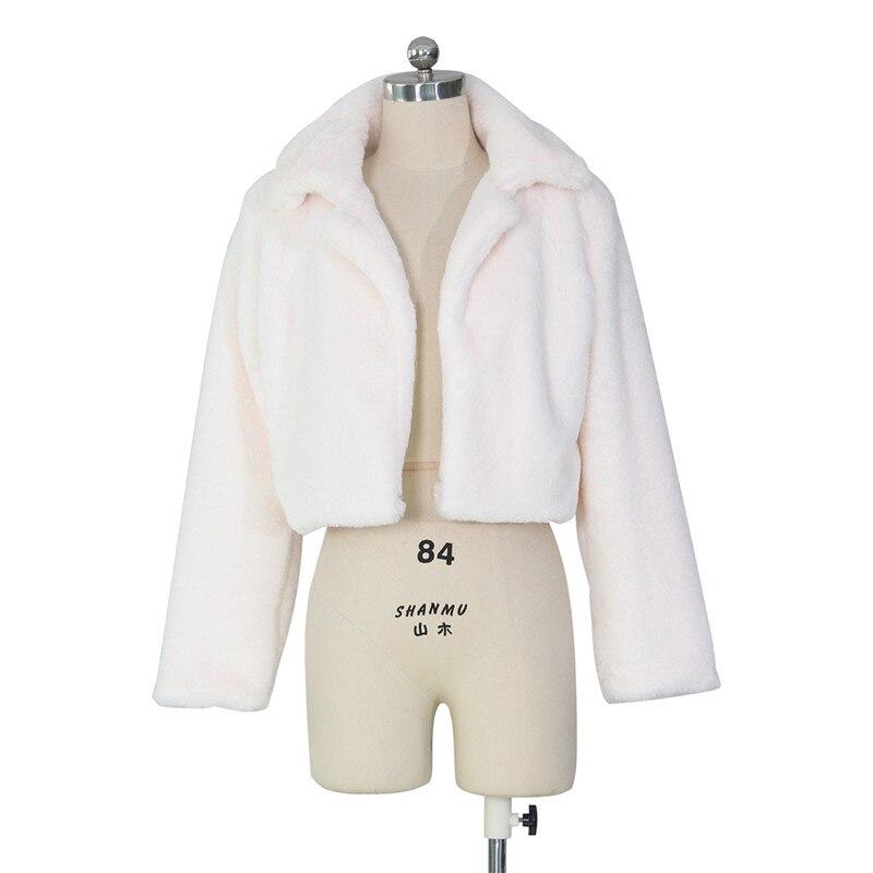 autumn winter faux fur coat short jacket-14