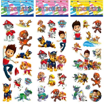 цена на Paw Patrol dog bubble cartoon stickers toys Patrulla Canina toys marshall ryder Action Figures Model Toy children