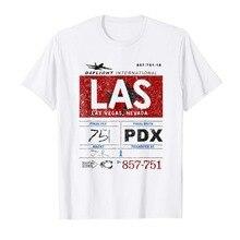 Las Vegas Int'L Airport Vintage Etiqueta de aerolínea piloto estilo de verano de moda hombres Casual camisetas novedad camisetas