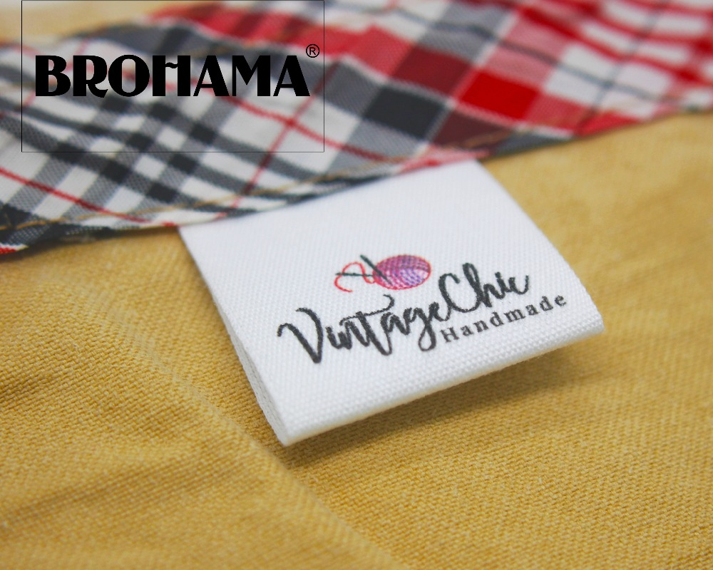 Custom folding labels custom brand labels clothing labels Handmade yarn ball MD004 in Garment Labels from Home Garden