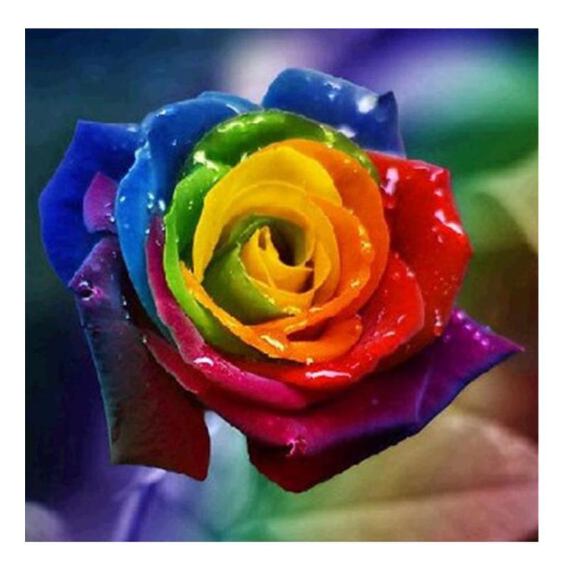 diamond painting rainbow rose animals wolf painting 5d diy diamond embroidery cross stitch kit