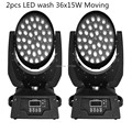 2PCS  36*15W RGBWA 5 IN1 LED Zoom Moving Head Light 36x15W Zoom LED Moving Head Wash Light  good quality