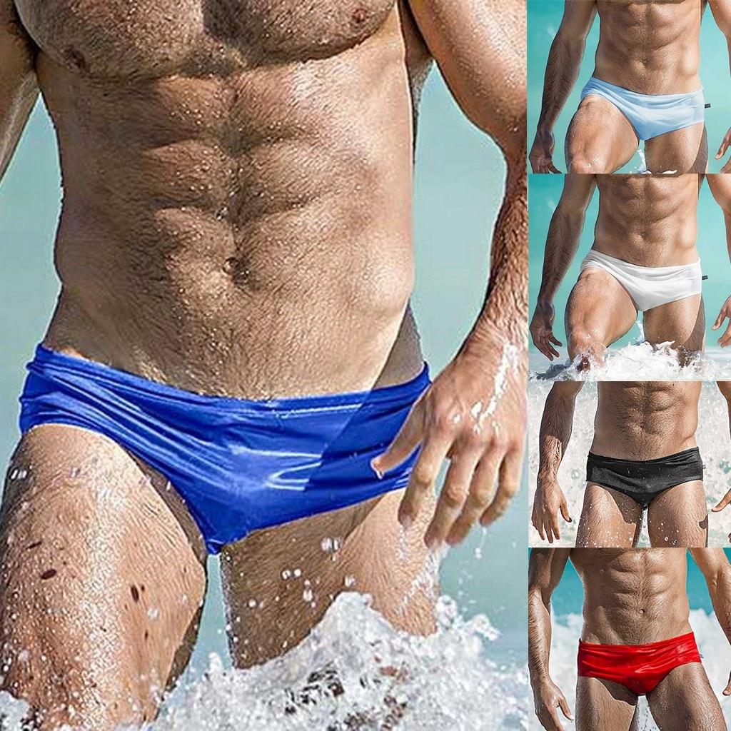 Bikini 2019 Sexy Fashion Men Breathable Trunks Pants Beach Solid Color Running Swimming Underwear top bikini swimwear women