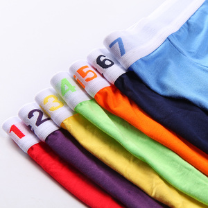 Image 4 - Innersy Boxer 7Pcs/lot Brand Sexy Boxer Mens Underwear Cotton Boxer Short Colorful Breathable Belt Shorts Boxer Pure color