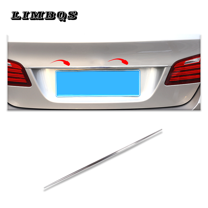 High Quality Stainless Car Steel Rear Trunk Lid Cover Trim Strip For BMW 5 Series F10 F11 520i 525i 2010-2017 Auto Accessories