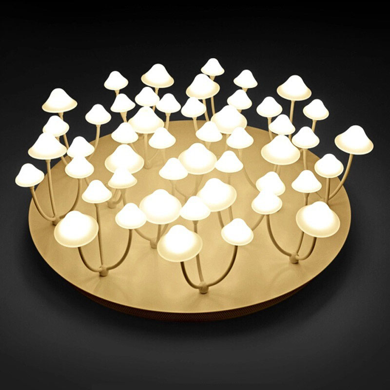 купить Creative Modern Chandelier White Mushroom Ceiling Mounted Cute Lighting Fixture For Bedroom Living Room Children's Foyer по цене 9878 рублей