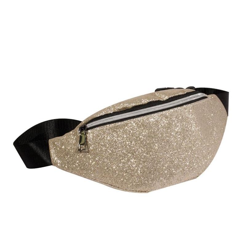 Waist Bag Women Waist Fanny Packs Belt Bags Luxury Fashion Women Bling Sequins Shoulder Messenger Chest Bag