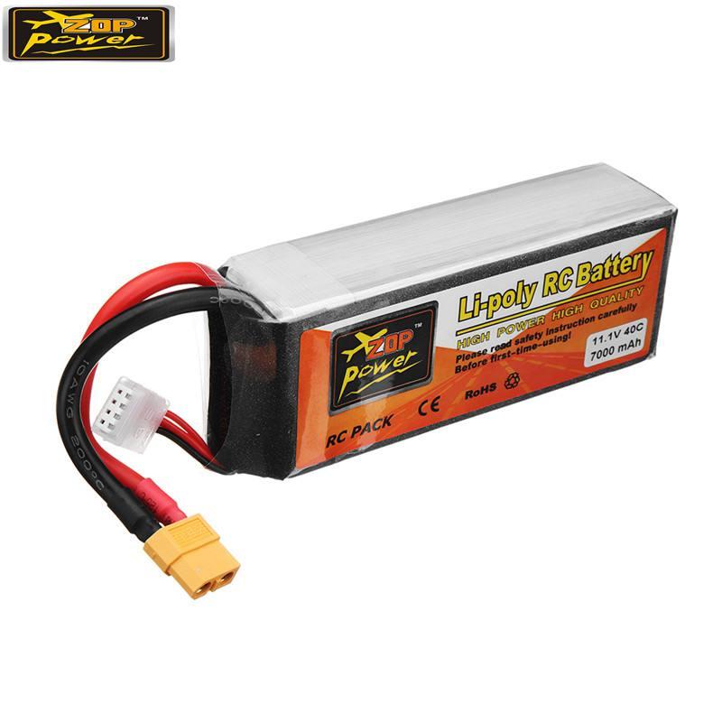ZOP Power 11.1 V 7000 mah 40C 3 S Lipo batterie Rechargeable avec connecteur de prise XT60 pour RC quadrirotor voiture pièce de rechange Accs