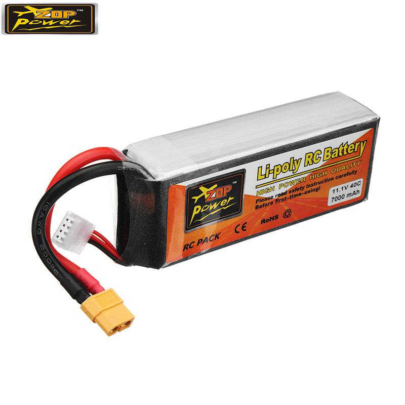 ZOP Puissance 11.1 v 7000 mah 40C 3 s Lipo Batterie Rechargeable W/XT60 Plug Connecteur pour RC Quadcopter voiture De Rechange Partie Accessoire