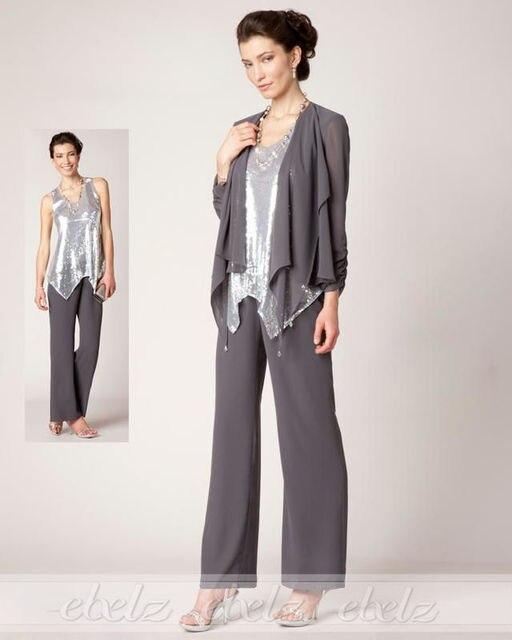 4ab9bc0260c 3 unidades de la astilla gasa camiseta gris oscuro de la madre trajes  pantalón para la