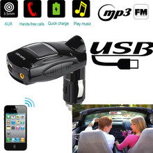 High Quality 3.5mm AUX Multifunction Car FM Transmitter Kit MP3 Player With Charger for Phone