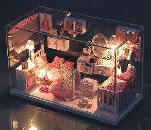 Free Shipping/ 1:24 DIY Dream Little House /3D Dollhouse Furniture  Miniature Toys
