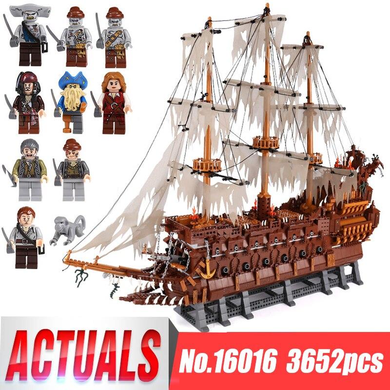 DHL Lepin 16016 3652Pcs MOC Movies Series The Flying the Netherlands Set Building Blocks Bricks Educational Toys Model Boys Gift