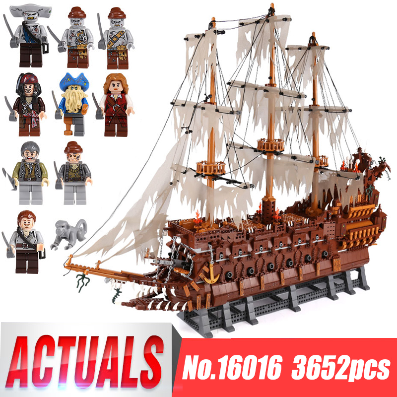 DHL Lepin 16016 3652Pcs MOC Movies Series The Flying the Netherlands Set Building Blocks Bricks Educational Toys Model Boys Gift lepin 16016 3652pcs movies series moc the flying netherlands dutchman model building blocks bricks ideas creator children gifts