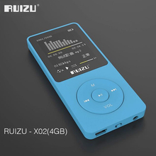 2016 100% ต้นฉบับภาษาอังกฤษUltrathin MP3 Player 4GBและหน้าจอขนาด1.8นิ้วสามารถเล่น80H,RUIZU X02