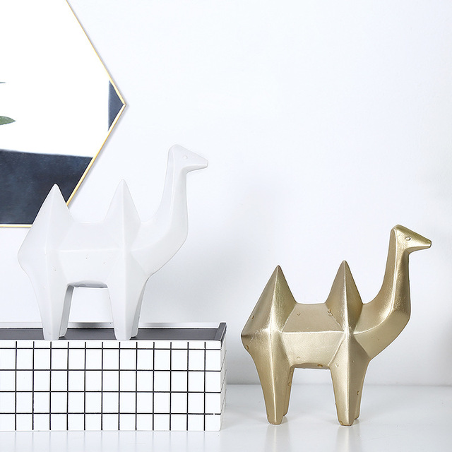 . US  12 98  Nordic simple geometric Animal Ornaments living room dining room  wine cabinet Home Decoration Resin Crafts Gifts in Figurines   Miniatures