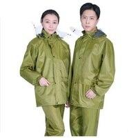 Men Waterproof Raincoat Rain Pants Motorcycle Rainwear Women Jacket Pants Set Adults Hiking Rain Coat Rain Pant Suit