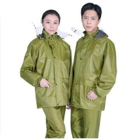 Men Waterproof Raincoat Rain Pants Motorcycle Rainwear Women Jacket Pants Set Adults Hiking Rain Coat Rain Pant Suit