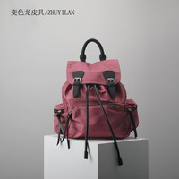 Customized high quality genuine leather oxford cloth backpacks bag fashion woman bag