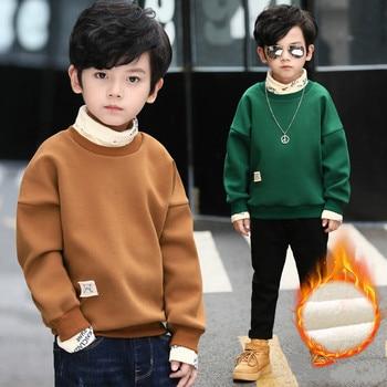 Boys Girls Hoodies & Sweatshirt 2018 Winter Warm Plush Hoodies Kids Outwear Baby Children Clothing Kids Jacket Boys Hoodies