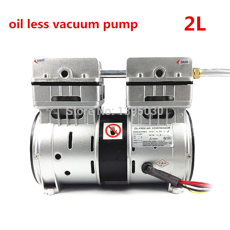 2L Oilless Vacuum Pump match with oca laminating machine for broken phone screen repair, LCD separator 110V/220V 2L 2l oilless vacuum pump match with oca laminating machine for broken phone screen repair lcd separator 110v 220v 2l