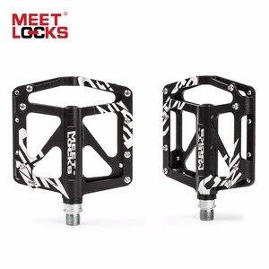 Image 2 - MEETLOCKS Bicycle Pedal Aluminum CRMO Bearing Triple Sealed CNC for Road Bike BMX MTB Altra light pedales bicicleta carretera