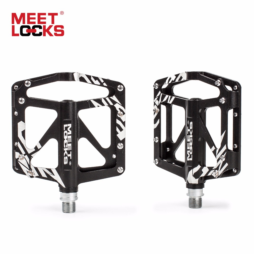 MEETLOCKS Bike Pedal Aluminum CRMO Bearing Triple Sealed CNC for Road Bike BMX MTB Altra-light pedales bicicleta carretera