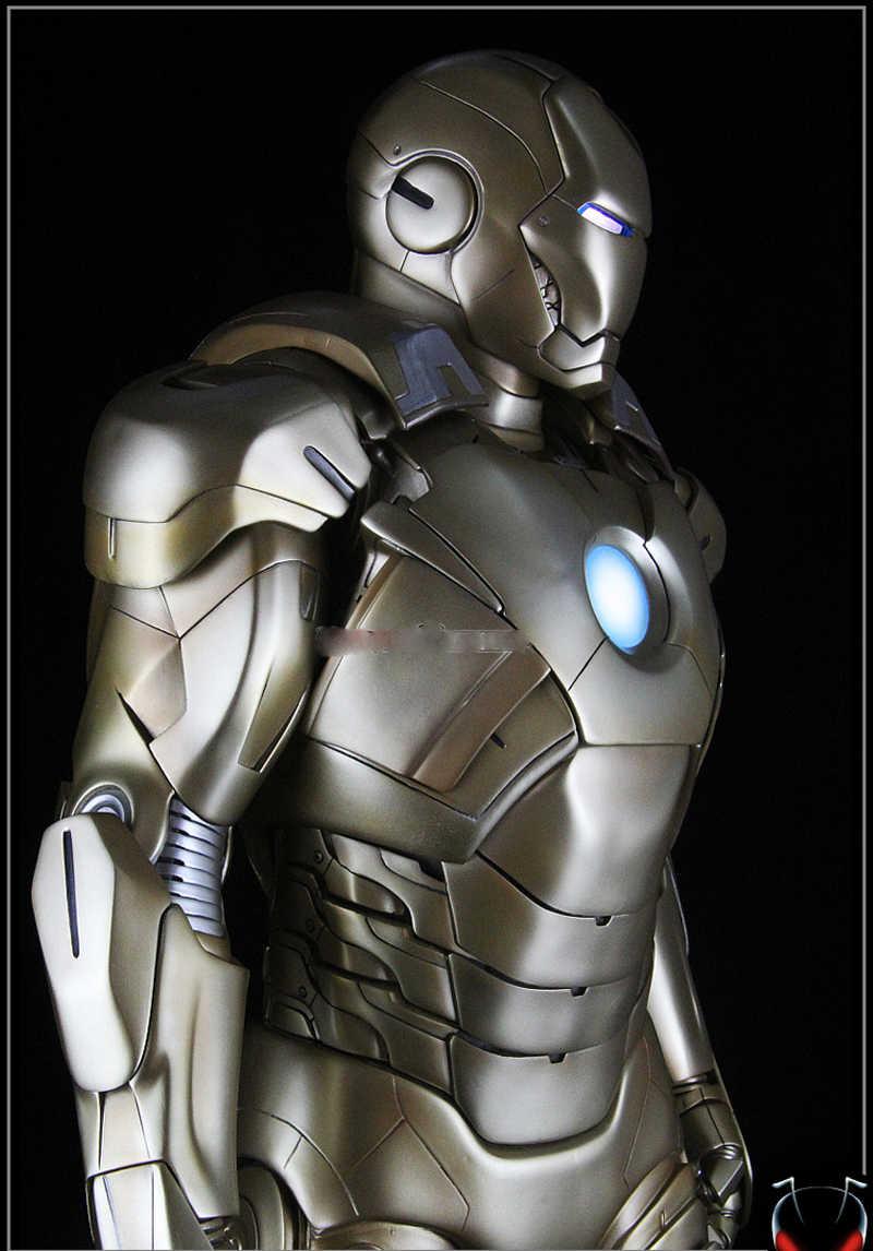 رائع! 1 متر ارتفاع كبير الرجل الحديدي نموذج 1/2 الرجل الحديدي كامل الجسم تمثال تمثال نموذج MK21 العلامة التجارية الجديدة ترقية تمثال الراتنج تمثال