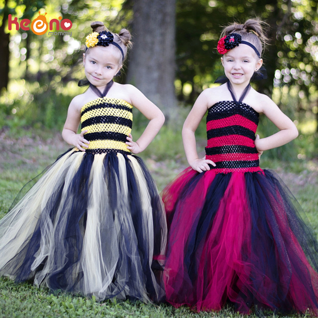 keenomommy red and black tutu dress girls ladybug queen halloween costume fall autumn christmas pageant gown