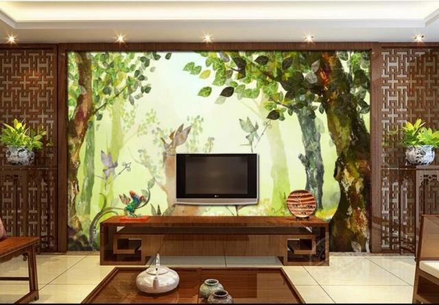 3d Room Wallpaper Custom Mural Non Woven Picture 3d Dream Elf TV Setting Wall  Jungle Part 49