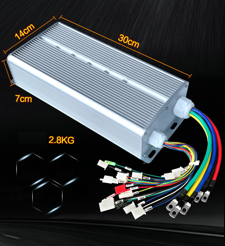 DC60V 2200W Smart Brushless Motor Controller Electric Vehicle Tricycle Drive, Speed Controller/DIY Brushless Drive dual mode drive brushless motor speed controller esc