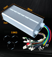 DC60V 2200W Smart Brushless Motor Controller Electric Vehicle Tricycle Drive, Speed Controller/DIY Brushless Drive