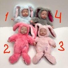 Спящая кукла в одежде зайца 25 см. спит с ребенком, мягкая игрушка для девочек ,куклы лол плюшевые игрушки, новогодние подарок на день рождения для детей на коллекцию, доставка из России от 2 дней