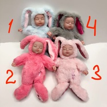 Mishatoys Baby Sleeping Rabbit 25 cm Plush Doll gift new yea
