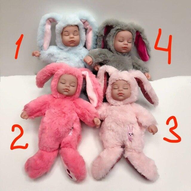Mishotoys bebé conejo durmiente 25 cm muñeco de peluche regalo Año Nuevo cumpleaños para niñas y niños lol muñecas envío desde rusia