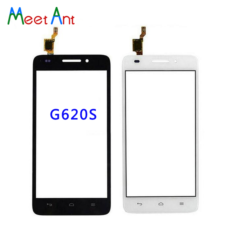 """10 шт./лот высокое качество 5,0 """"для huawei Ascend G620 и G620S графический сенсорный экран Внешний стекло объектив панель черный, белый цвет"""