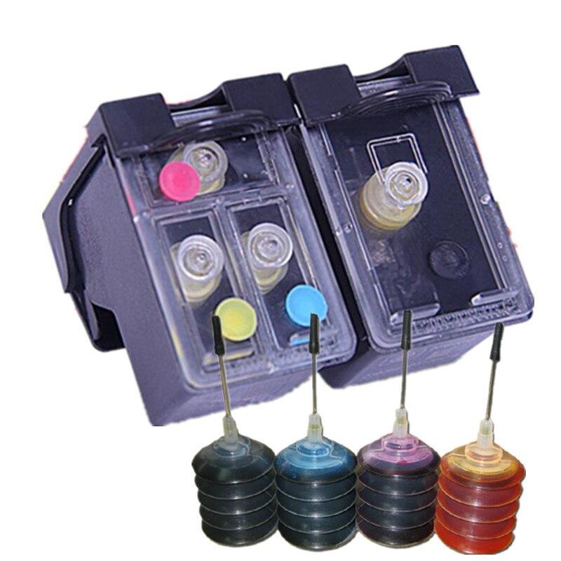 Cartouche d'encre rechargeable de remplacement pour HP 901 901XL J4580 4660 4680 4500
