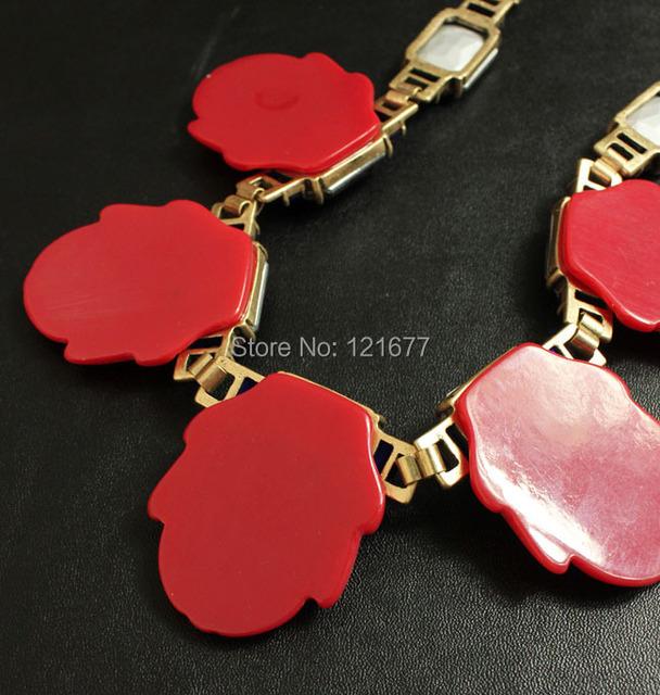 Brand Designer Statement Flower Maxi Collar Resin Chunky Crystal Gem Stone Bib Wedding Jewelry Women Accessories Bijoux cc