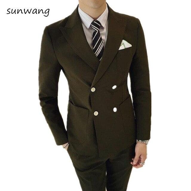Luxury Men wedding dress 2017 Suit Male Blazers Slim Fit prom Suits ...