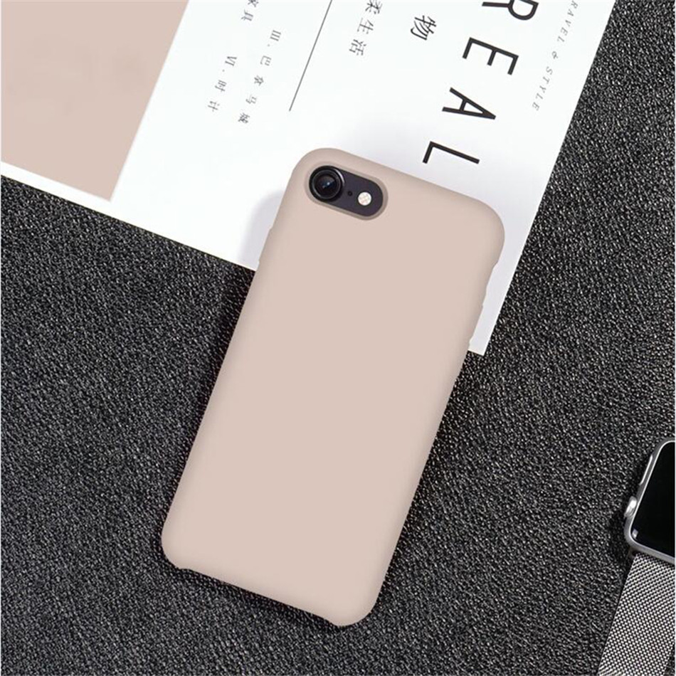 Original Silicone Case on iPhone 7 8 6 6S Plus X 5s 20