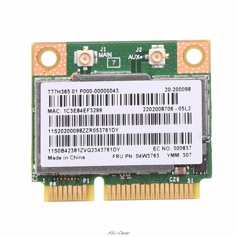 300Mbps 2.4 + 5GHZ BCM943228HMB Bluetooth 4.0 Half Mini Pci-e Wireless WiFi Card For Lenovo ThinkPad E430 E130 E435 E530