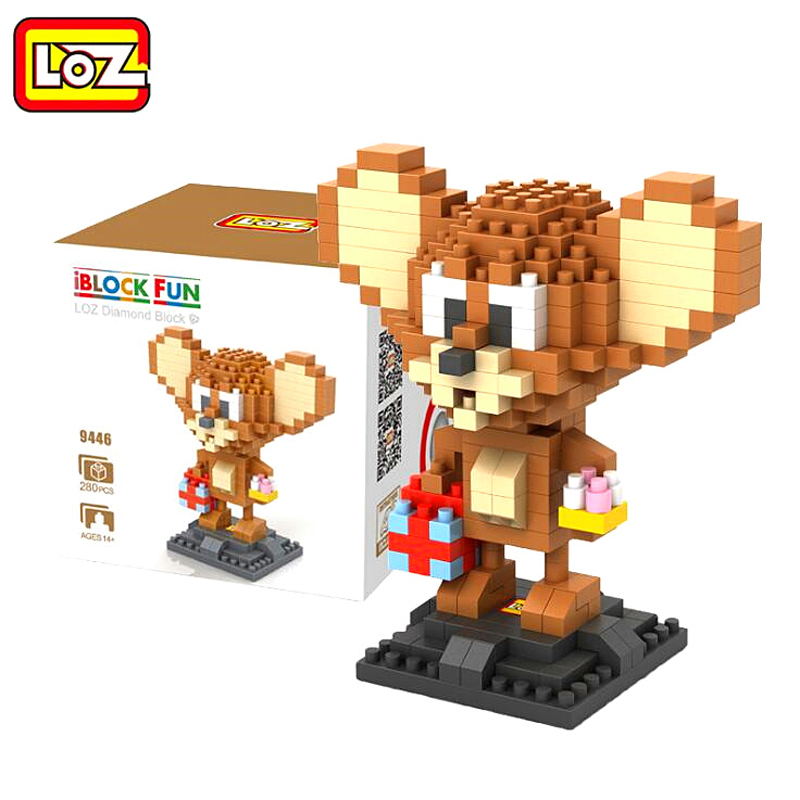 LOZ Diamond Blocks Tom And Jerry Assembly Toy Cat Mouse Diamond Blocks iBlock Fun Classic Cartoon Blocks loz diamond blocks dans blocks iblock fun building bricks movie alien figure action toys for children assembly model 9461 9462