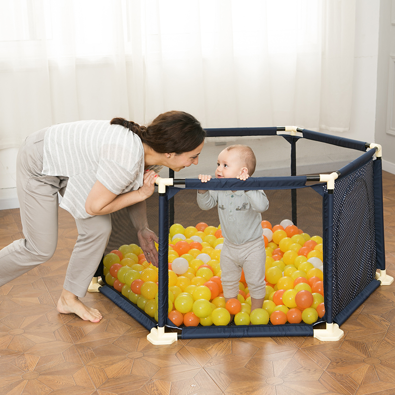 Baby Playpen Fence Plastic Children Playpen Bed Barrier Baby Safety Fence Safety Barrier Folding Fence 3 Years Old Solid