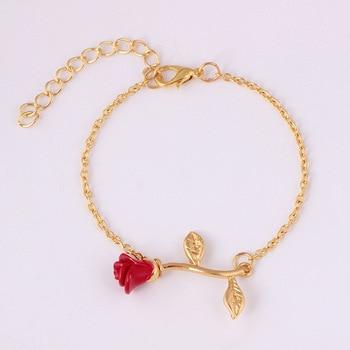 Nueva enlace pulsera para las mujeres elegante Simple rosa cadena de moda...