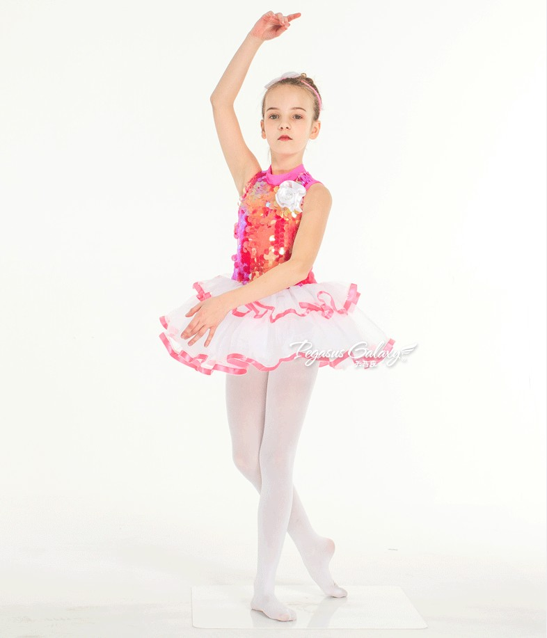 Sequins Blue Ballet Dress For Girls Rhinestone Velvet Professional Ballet Tutu Leotard Kids Swan Lake Ballet Costume For Child