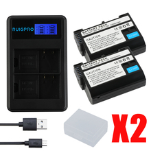 RuigPro 2200mAh EN-EL15 ENEL15 EN EL15 decoded Camera Battery For Nikon DSLR D600 D610 D800 D800E D810 D7000 D7100 D7200 V1