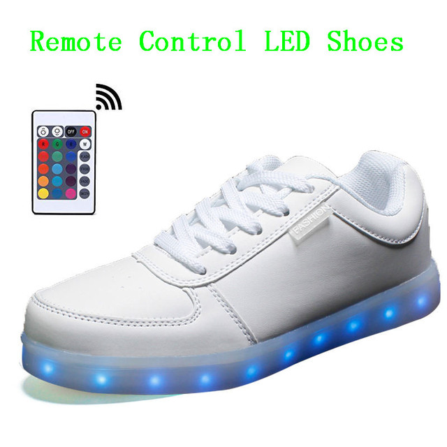 Men Led Shoes For Adults Remote Controlled Light Up Shoes Men Tenis